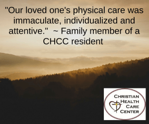 CHCC testimonial--care was immaculate, FB