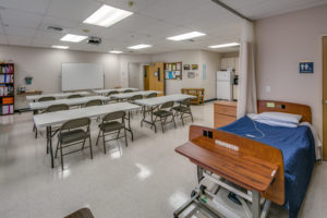 Educational training classroom for staff training and nursing assistant certification