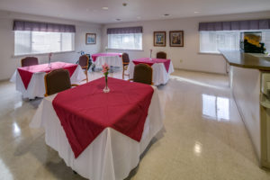 Private dining room in rehabilitation wing