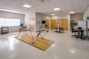 Rehabilitation gymnasium, staffed by Infinity Rehab pros