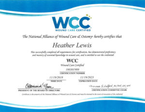 Chcc S Director Of Nursing Earns Certification In Wound Care Chcc Lynden Wa